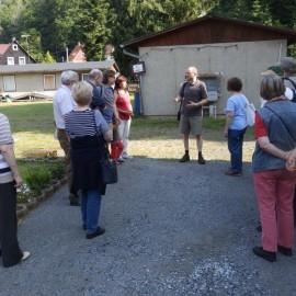 Empfang durch ein Vereinsmitglied der Schwarzbachtalbahn
