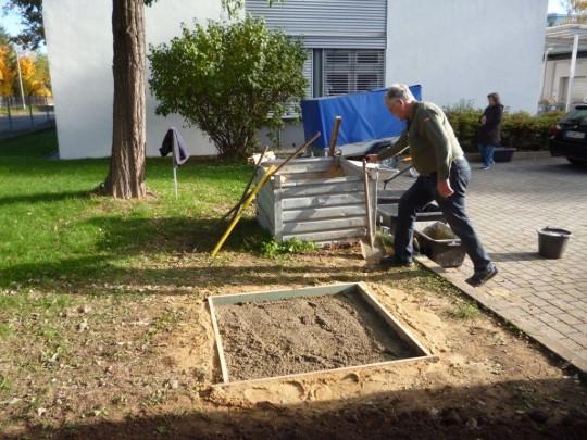 Vorbereitung zum Betonieren