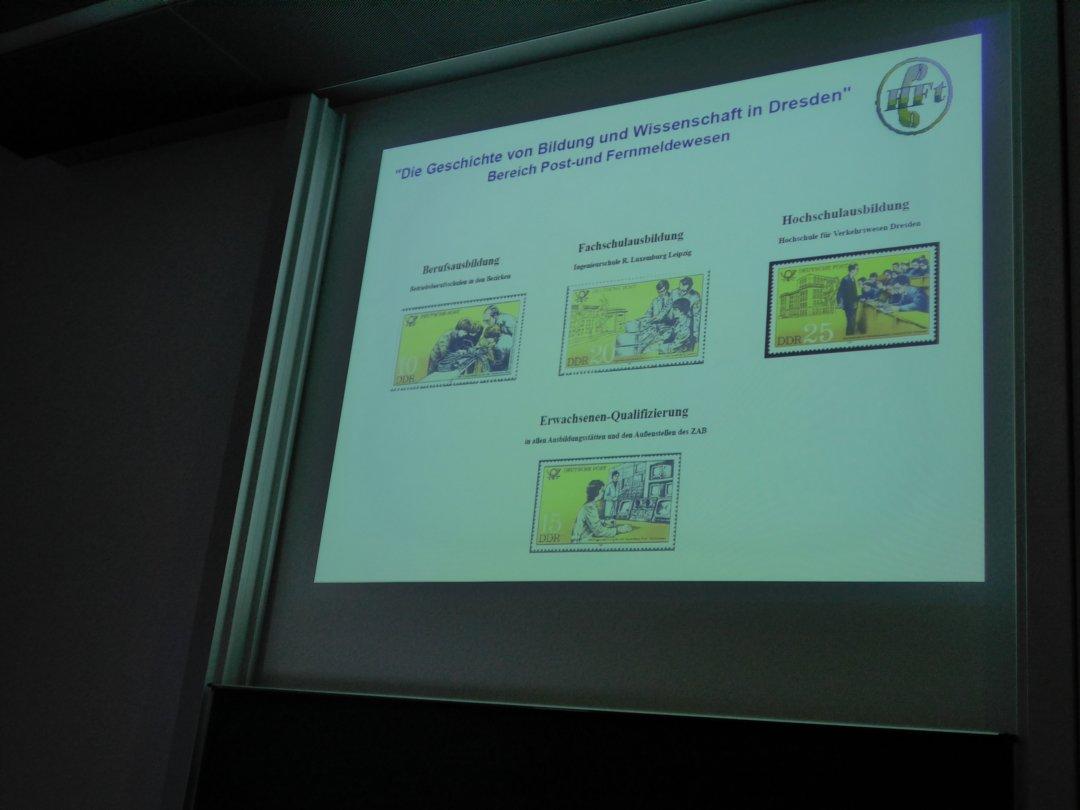 Vortrag zur Berufsausbildung der Post in Dresden