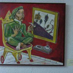 Gemälde mit Saleh und dem Blauen Häusel